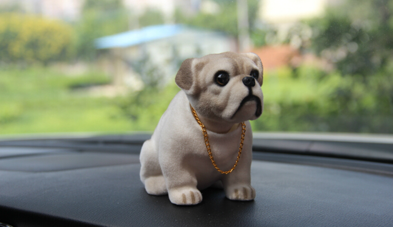 2015-Cute-Doll-Nods-Car-Decoration-Bulldog-Resin-With-A-Bobble-Head-Herding-dog-Car-Styling